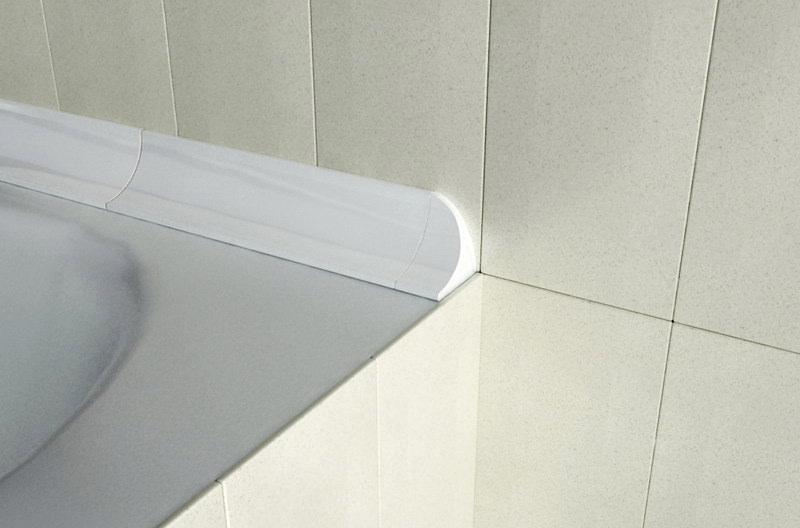 Как сделать бордюр в ванной у стены 95