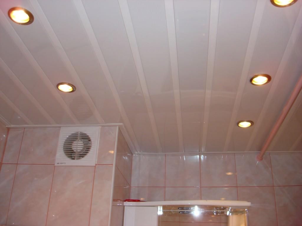 Пластиковый потолок в туалете своими руками 972