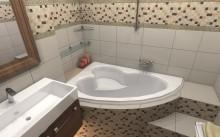 Современные интересные дизайны маленькой ванной комнаты