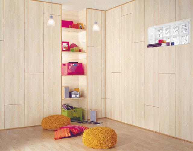 Комната с пластиковыми панелями