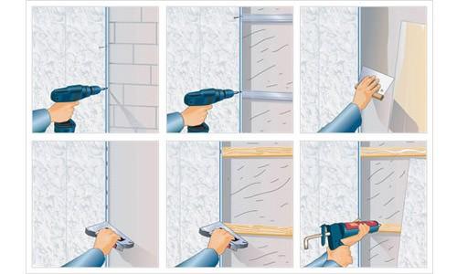 Монтаж ПВХ панелей к стене