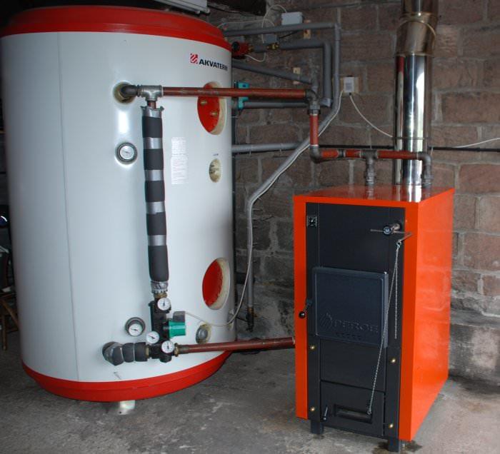 теплоаккумулятор с котлом отопления