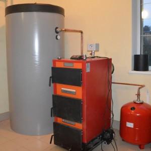 теплоаккумулятор и котел отопления
