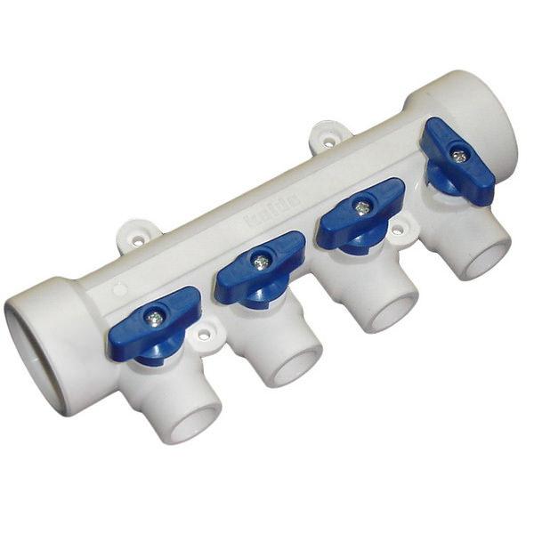 Коллектор полипропиленовый 40-3 выхода-20 мм