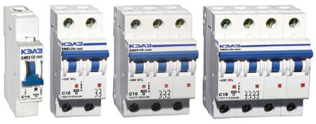 Автоматические выключатели одного производителя