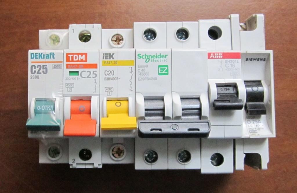 Выбор автоматических выключателей