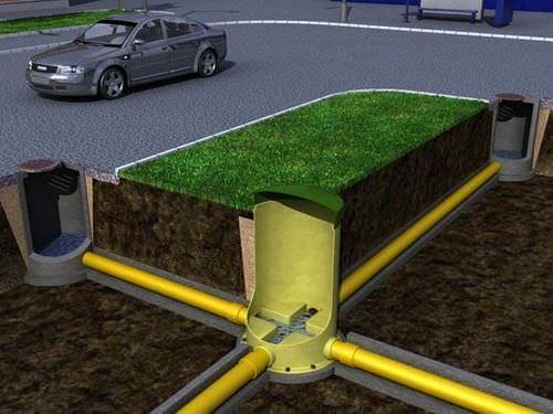 Схема устройства канализационного колодца