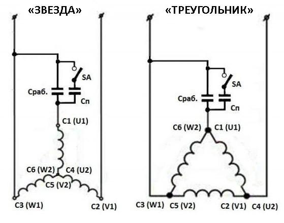 """Схема подключения """"Треугольник"""" и """"Звезда"""""""