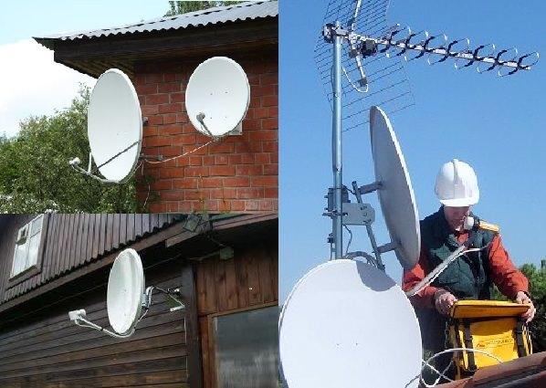 Поэтапная установка антенны