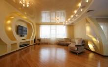 Большая комната с лампочками