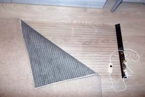 Мобильный теплый пол под ковер