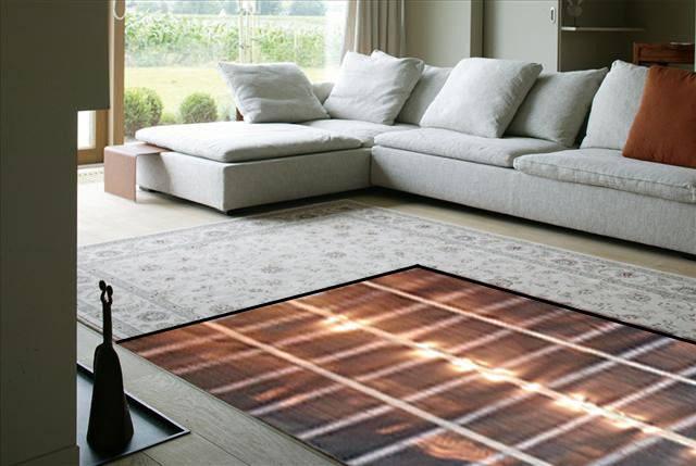 Теплый пол под ковром в зале