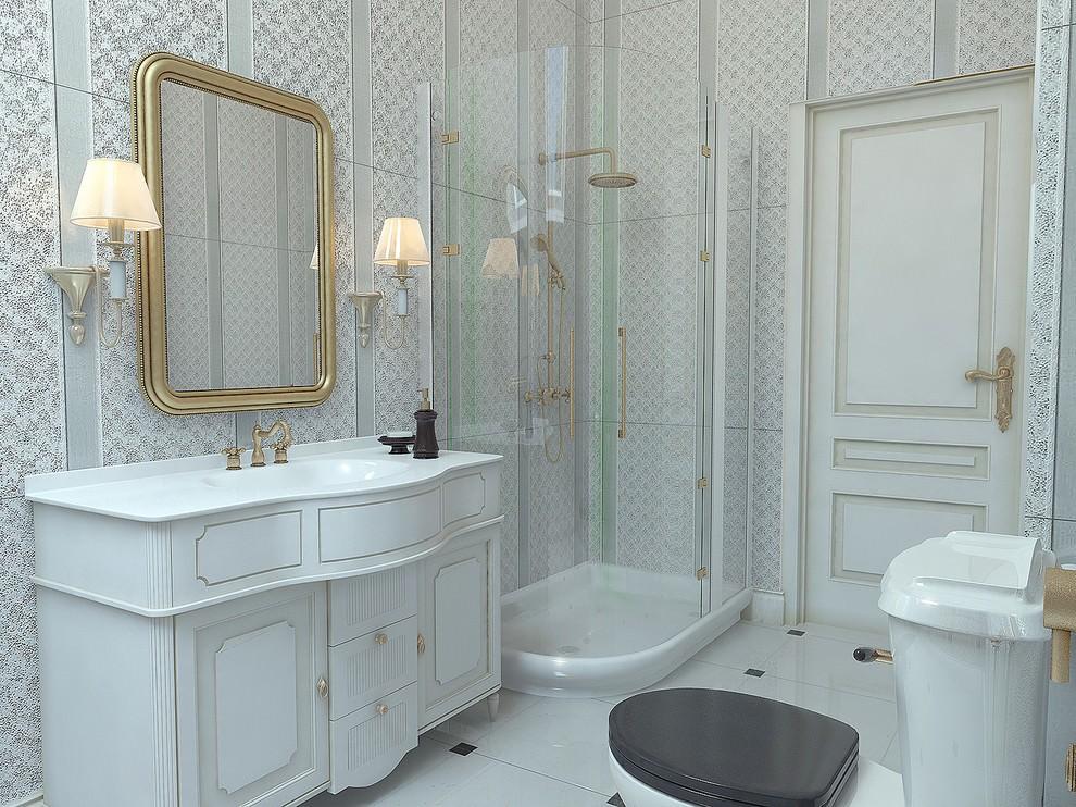 Ванна с туалетом в классическом стиле
