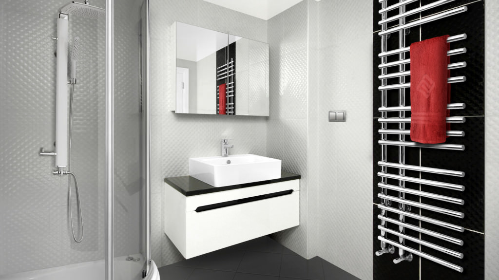 Ванная комната с полотенцесушителем