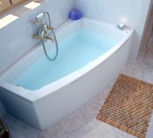 Стальная угловая ванна