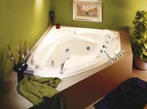 Угловая ванна для двоих