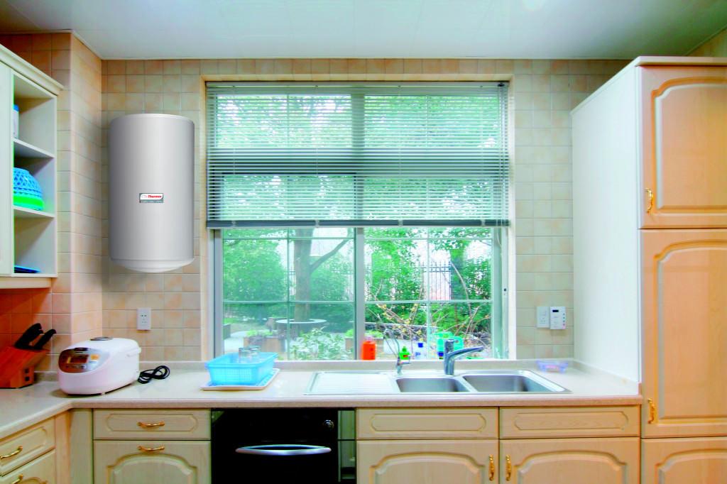 кухня с водонагревателем