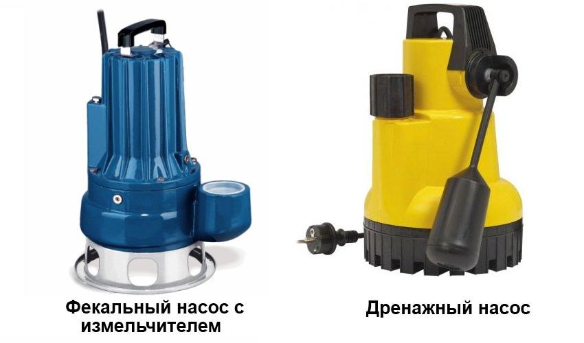 насосы для очистки канализации