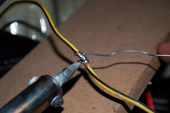 пайка провода к проводу