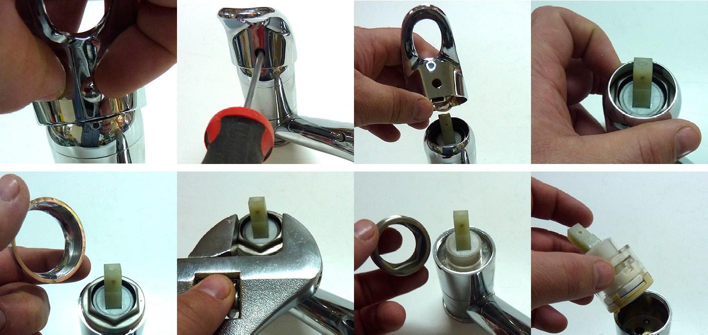 Как самостоятельно заменить картридж в смесителях?