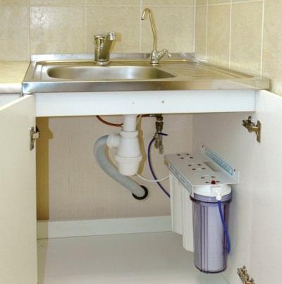 раковина с фильтром для воды