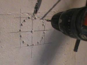 разметка для установки подрозетника