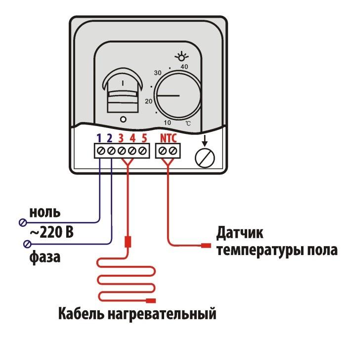 Как подключить терморегулятор к теплому полу?