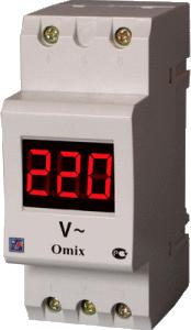 Вольтметр D2-V-1-0.5 переменного тока с креплением на DIN-рейку