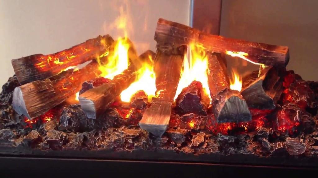 Огонь в электрокамине