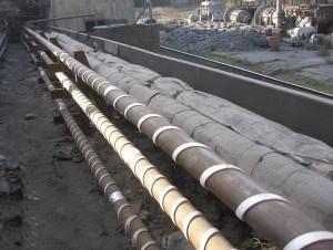 Обогрев наружных труб с помощью кабеля