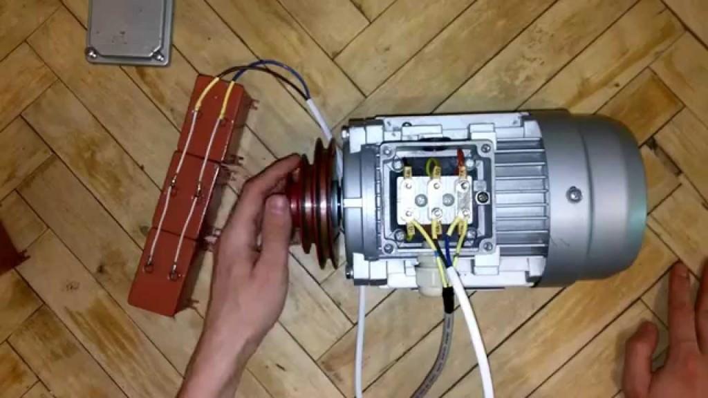 Двигатель с конденасторами