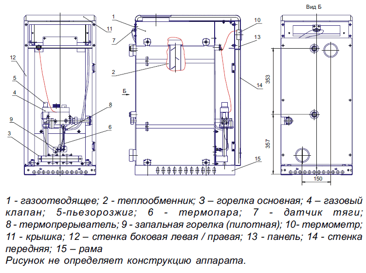газового котла Siberia