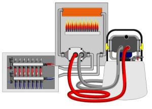 Схема промывки системы отопления