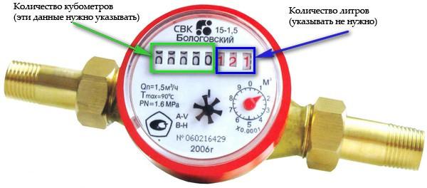 Показания электронного счетчика