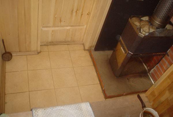 Готовые полы в бане