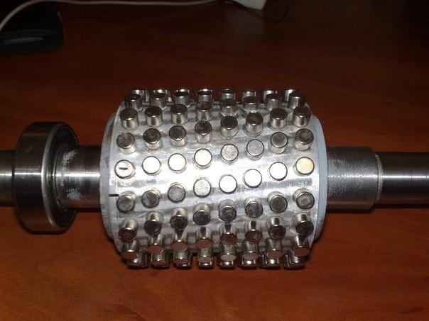 Переделка асинхронного двигателя на магниты