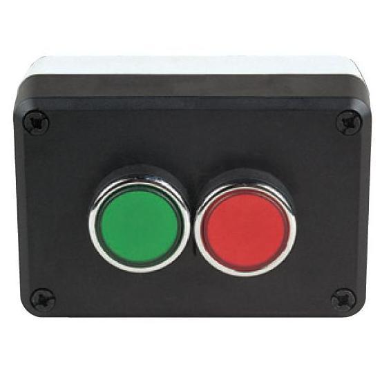 Пост управления с зеленой и красной кнопкой